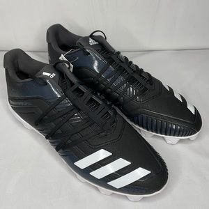 Adidas Afterburner 6 MD Black/White Baseball Cleat